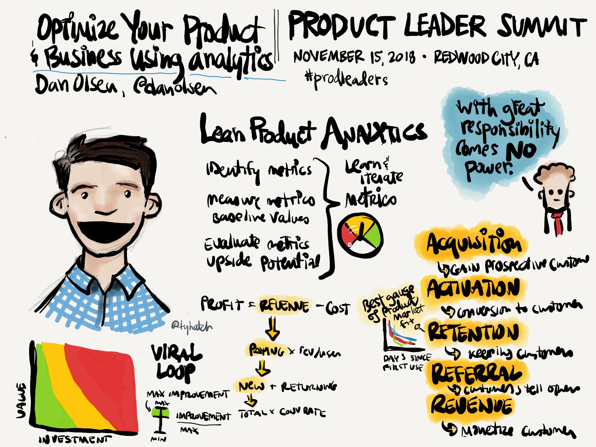 Dan Olsen talk: Optimize Your Product & Business using Analytics