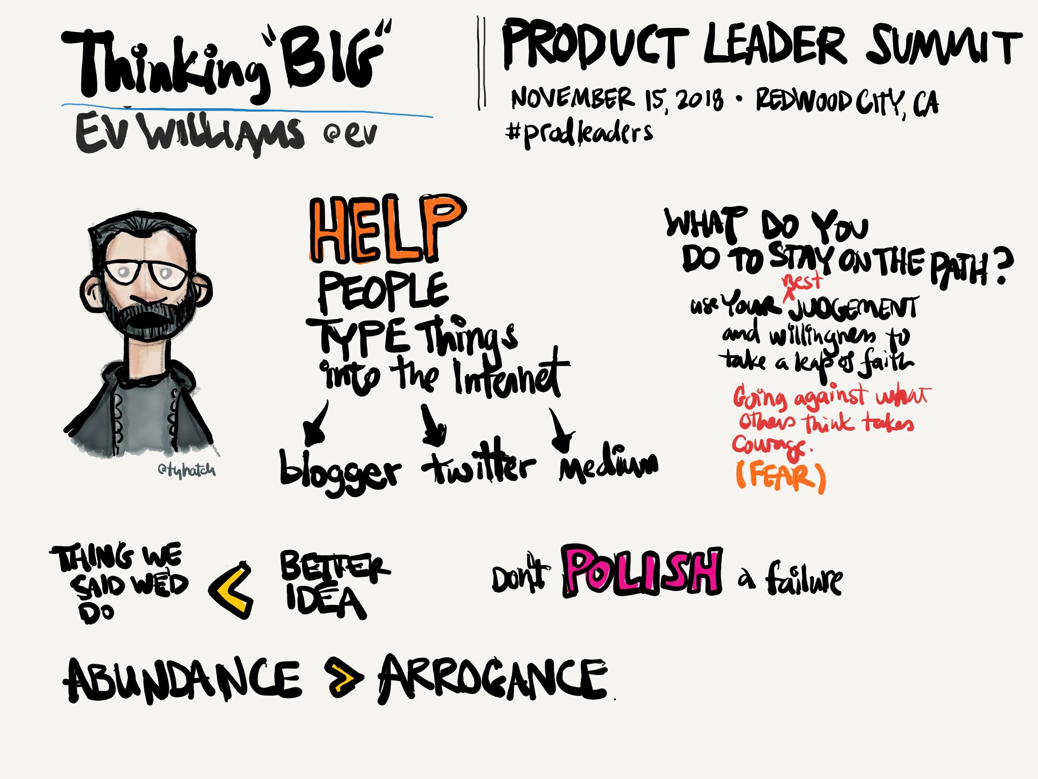 Ev Williams talk: Thinking Big