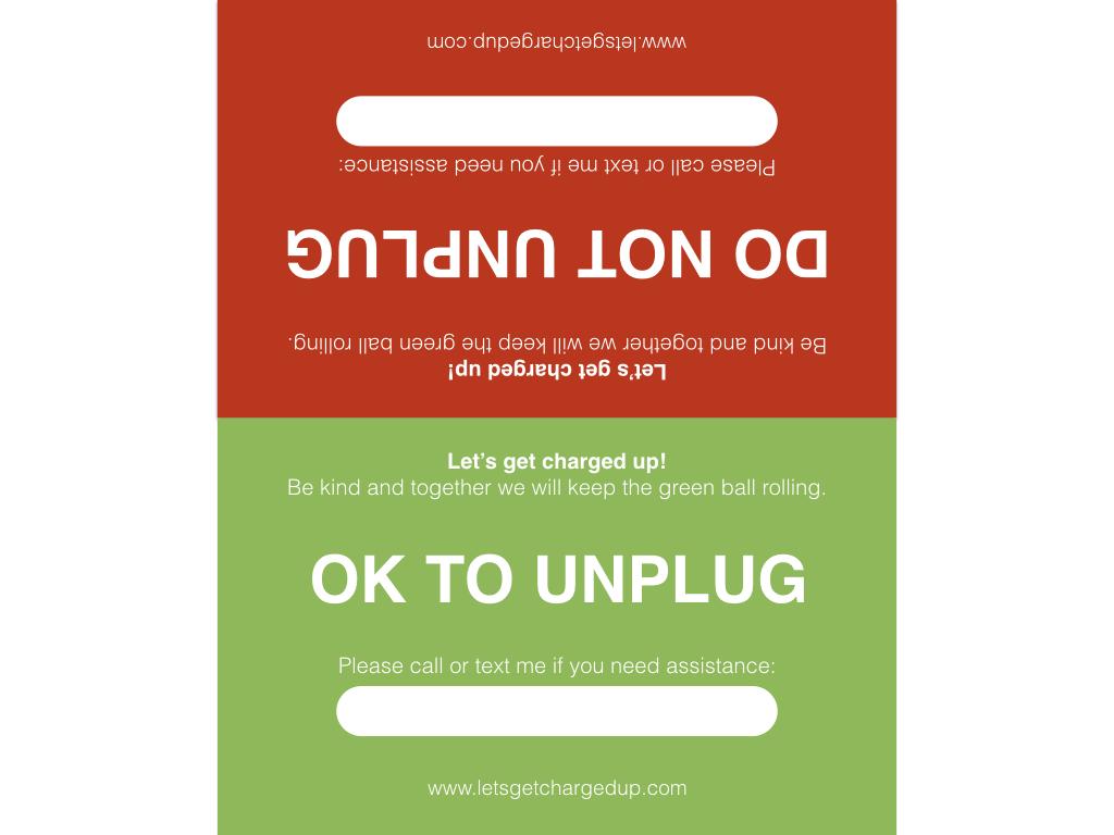 Charging Etiquette Display Card