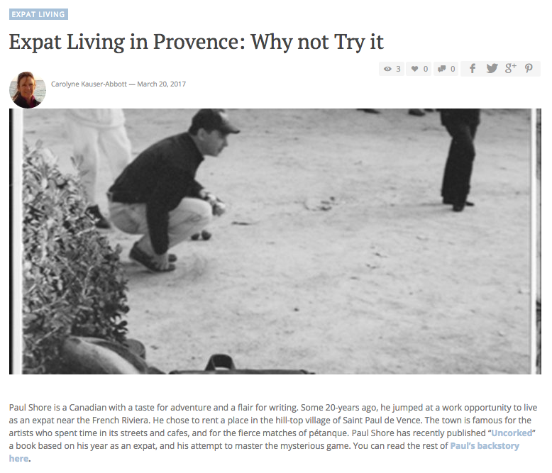 Expat Living in Provence: Why not Try it