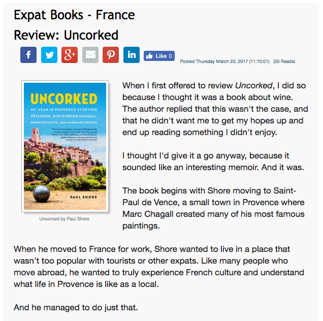 Expat Focus - Review: Uncorked