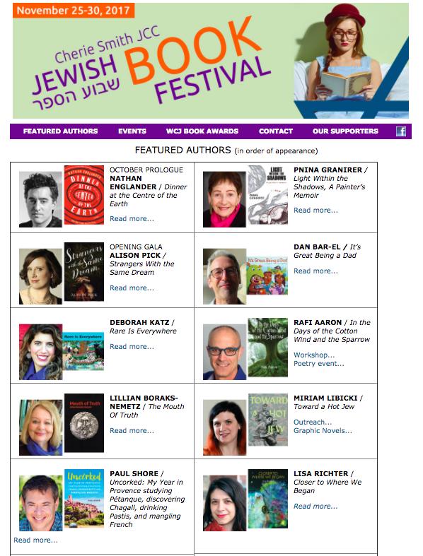 Cherie Smith JCC Jewish Book Festival