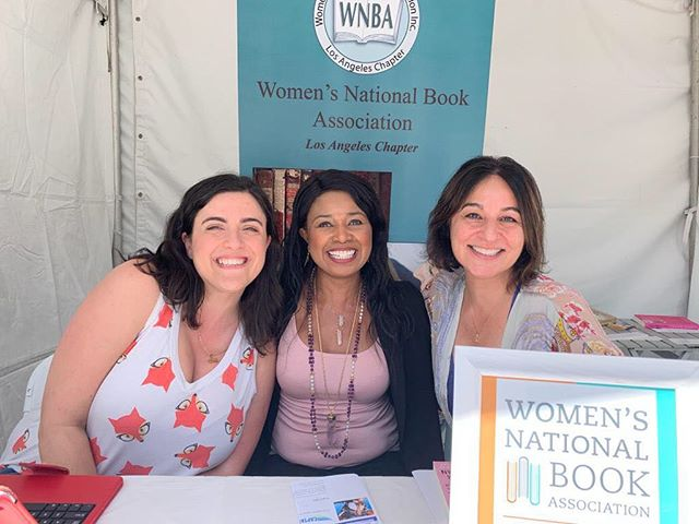 I'm psyched to be here at #losangelesfestivalofbooks at the @wnba_la table. This fantastic organization is a sorority for bookworms. Taking new members. #writersofinstagram #readersofinstagram #authorsofinstagram #bookstagram #bookworm