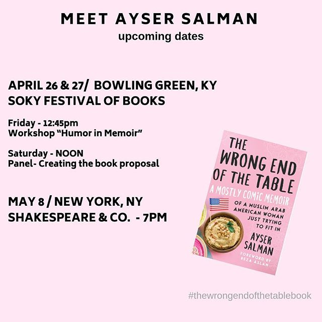 TODAY & TOMORROW - are you near Bowling Green? Never mind the #nfldraft - come to #sokybookfest. I'm here both days. (Note change in panel time tomorrow. I'm an hour earlier than was previously posted.  See ya'll there!  #thewrongendofthetablebook #booktour #sokybookfest2019 #ky #homecoming #immigrantsmakeamericagreat #immigrantstories