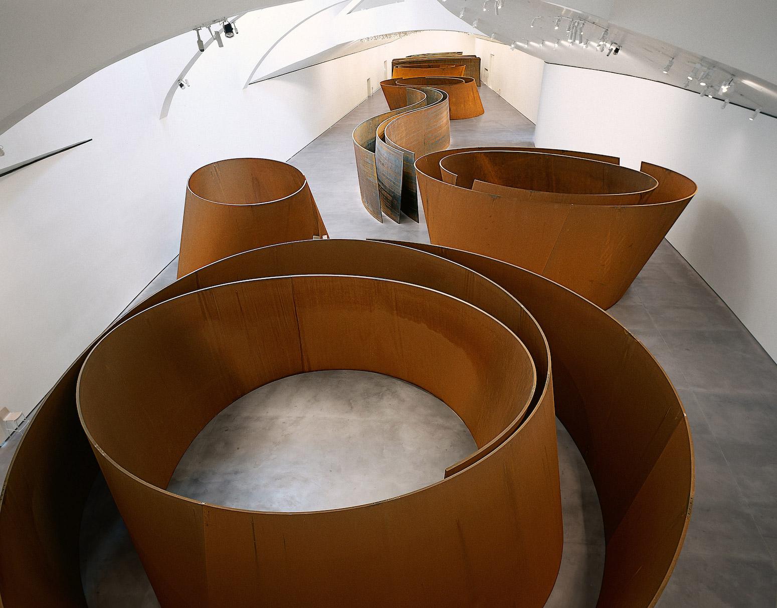 Richard Serra,  The Matter of Time  (2005). Guggenheim, Bilbao. Installation of seven sculptures made from weatherproof steel.