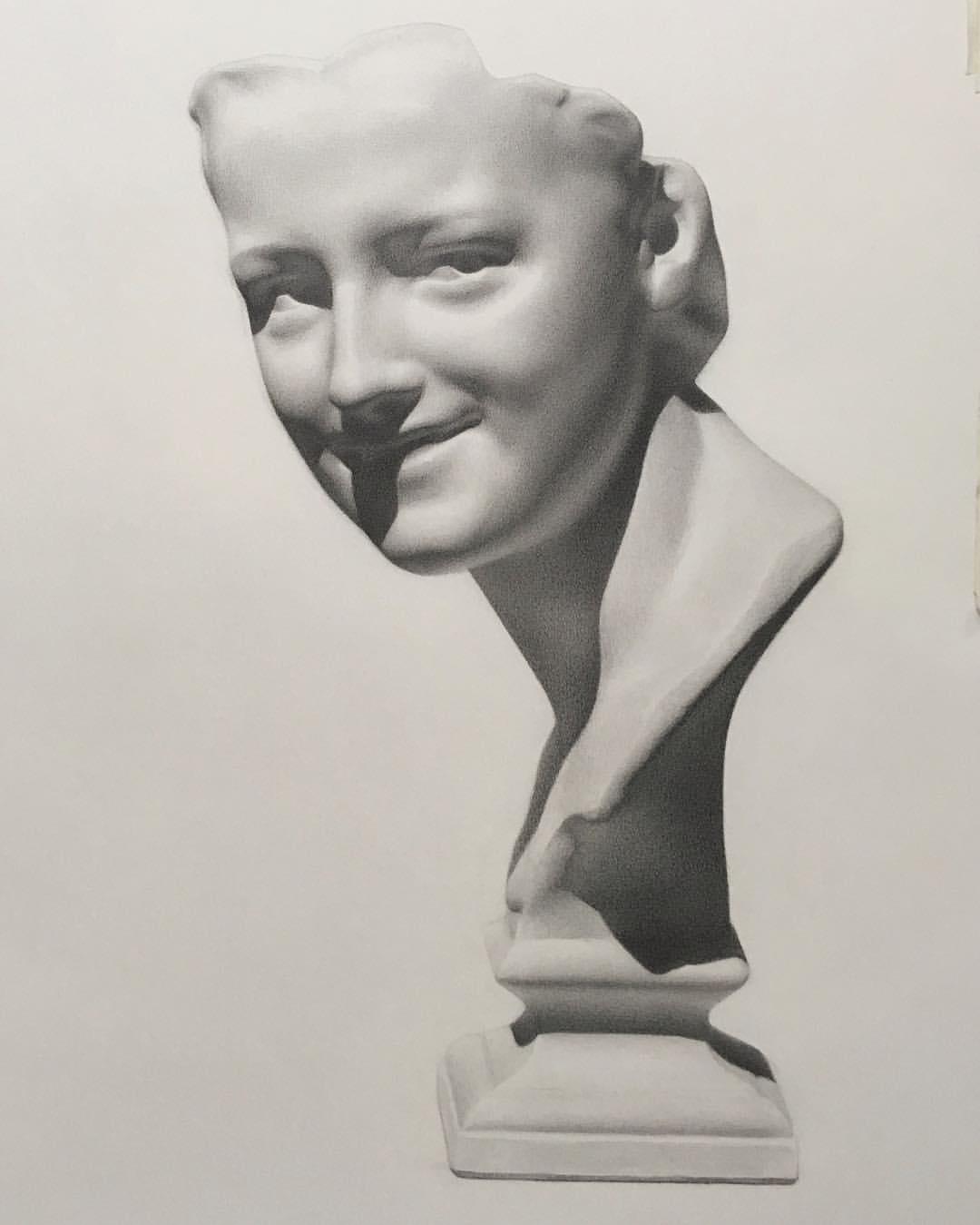 Cast Drawing Of Carpeaux Figure
