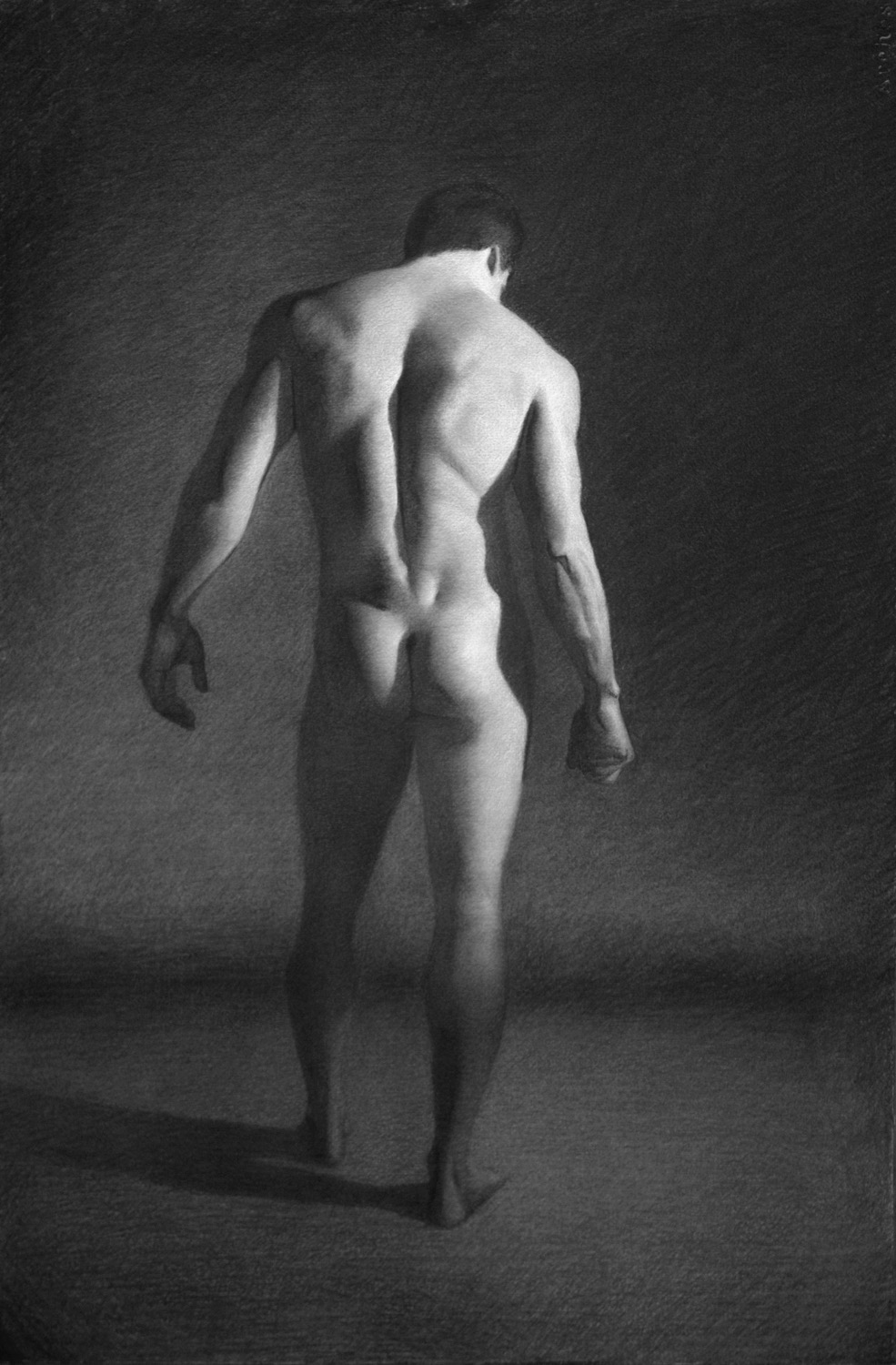 Male Figure Study   Art Renewal Center 13th Annual Salon Competition Finalist