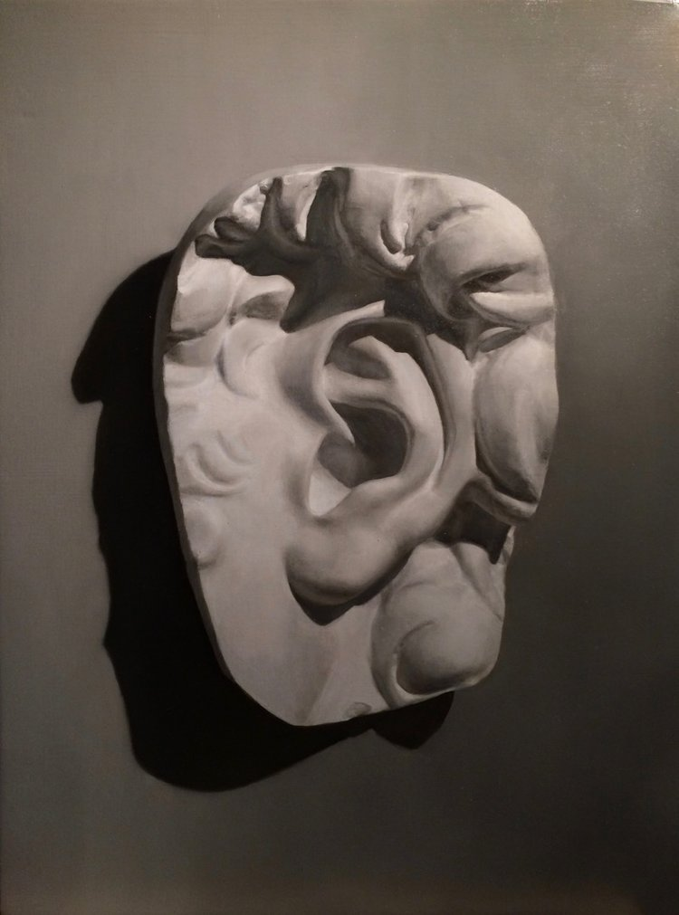 Grisaille Study of David's Ear
