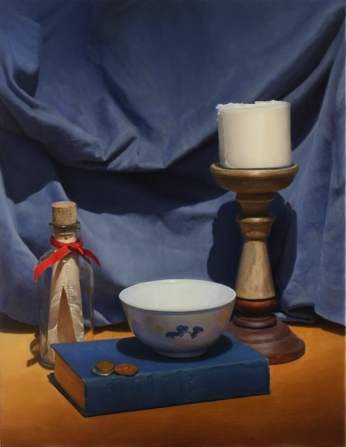 Chinese bowl and bottle with a message.JPG