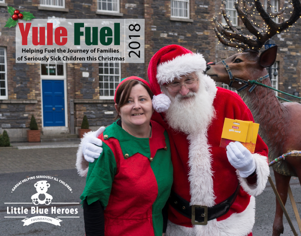 Yule Fuel Campaign - Each Christmas we run a 'Yule Fuel' campaign to help fuel the journeys of families of children with serious illness who have hospital appointments over the festive season. Being on the road for families means needing fuel for the car, last minute food shopping for essentials, credit for phones and buying fuel for the home. Normally the only 24 hour service available to buy these things are garages along their route to and from hospital. We help to reduce some of these costs to these families who must travel our national roads by providing Gift Cards for garages to those in need.