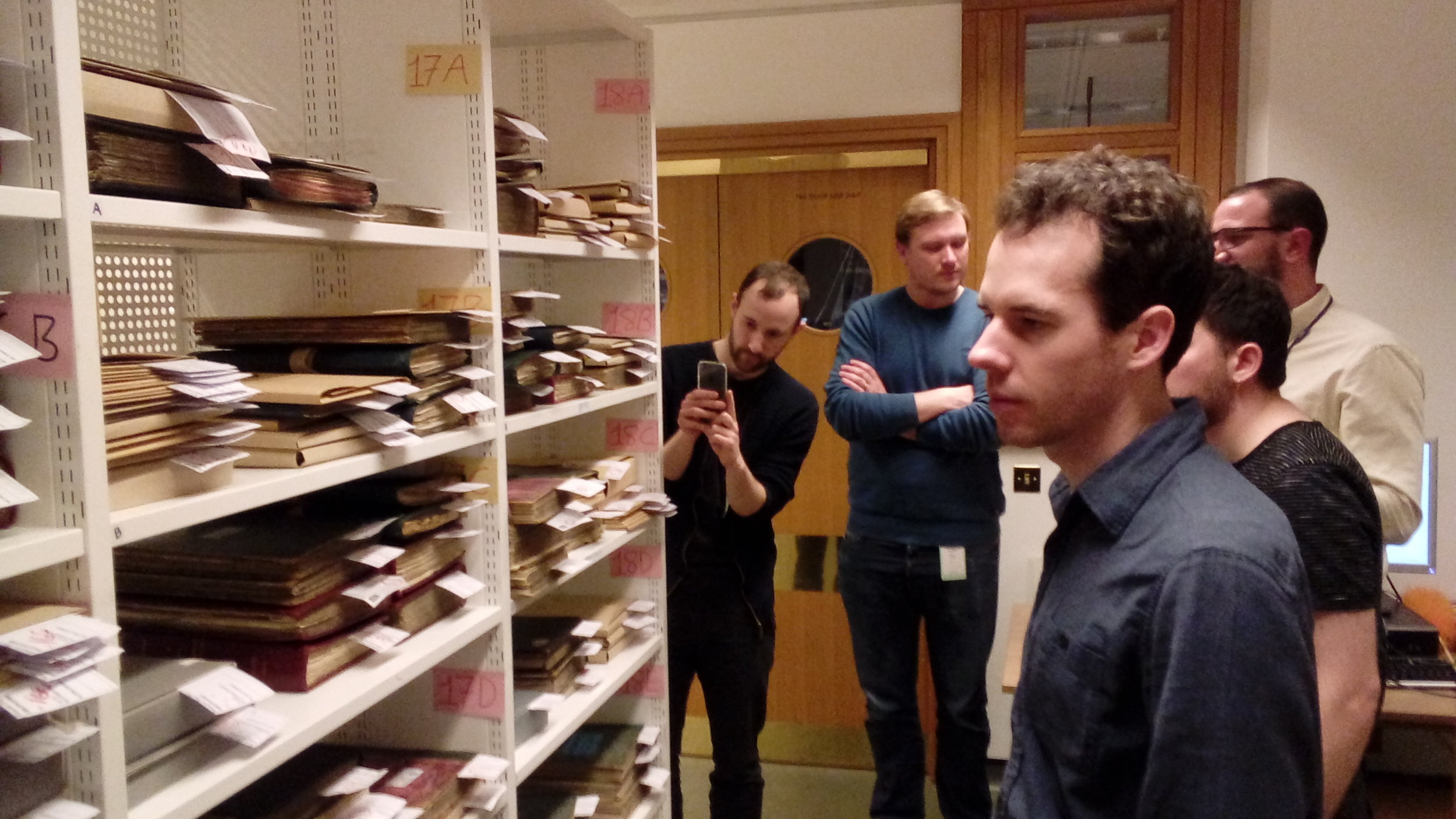 Team trip behind the scenes at the British Library