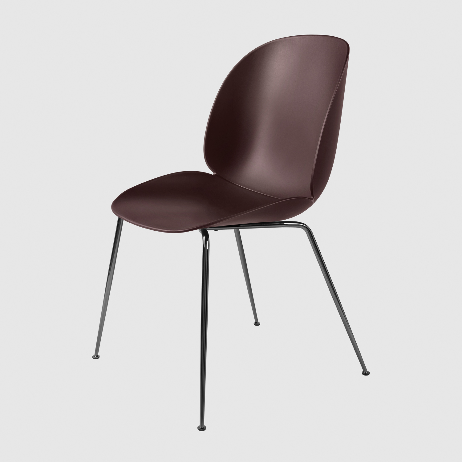 Beetle_DiningChair_Conic_Unupholstered_BlackChrome_DarkPink_Front.jpg