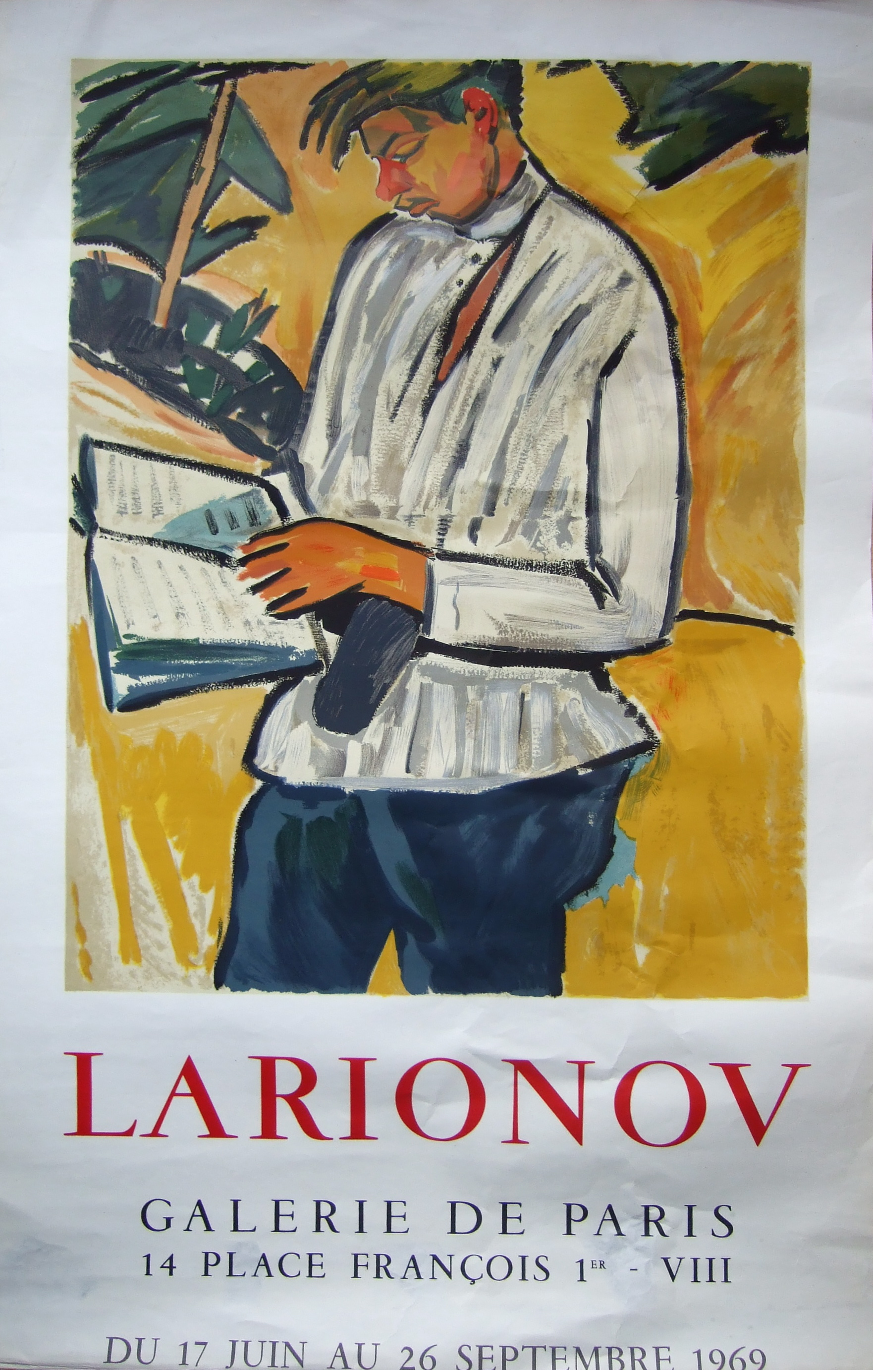 Larionov Exhibition Poster 1969
