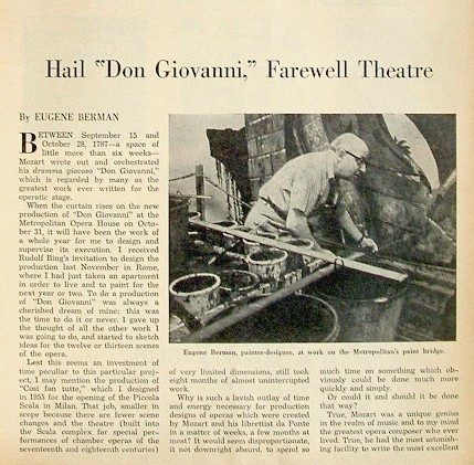 """SATURDAY REVIEW October, 1957 New York With an article about Eugene Berman's creative work in theater and his portrait on the front cover.  Text in English. Size: 11"""" x 8"""". Illustrated."""