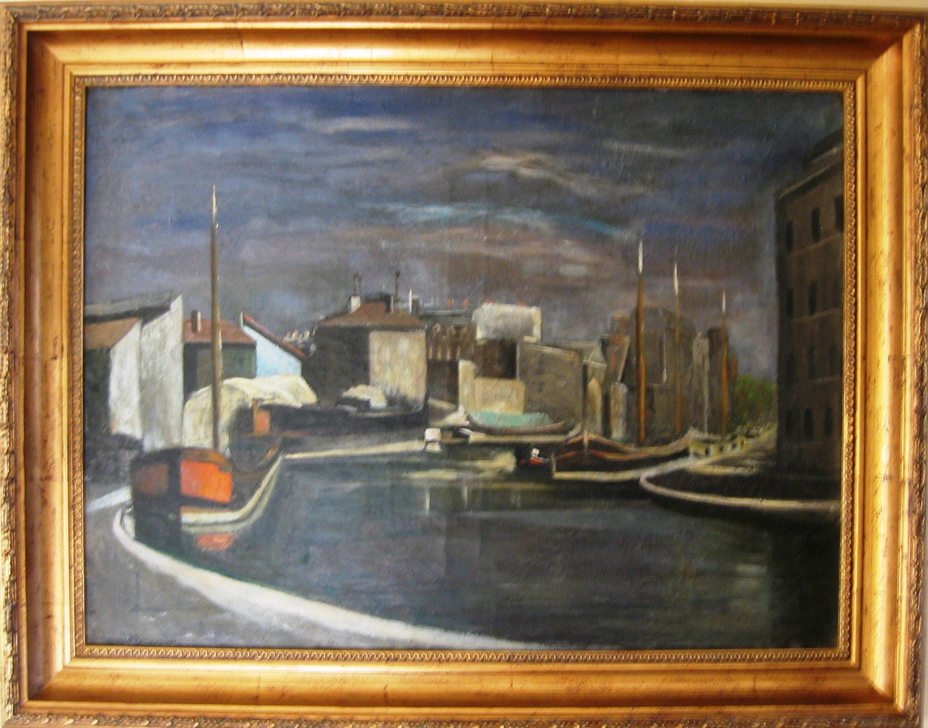 Port. Oil on canvas, signed. Size: 80 x 60 cm. c. 1926.