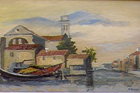 Vladimir Boberman - Venice.  Oil on canvas, signed.  Size: 60,5 x 38,5 cm.
