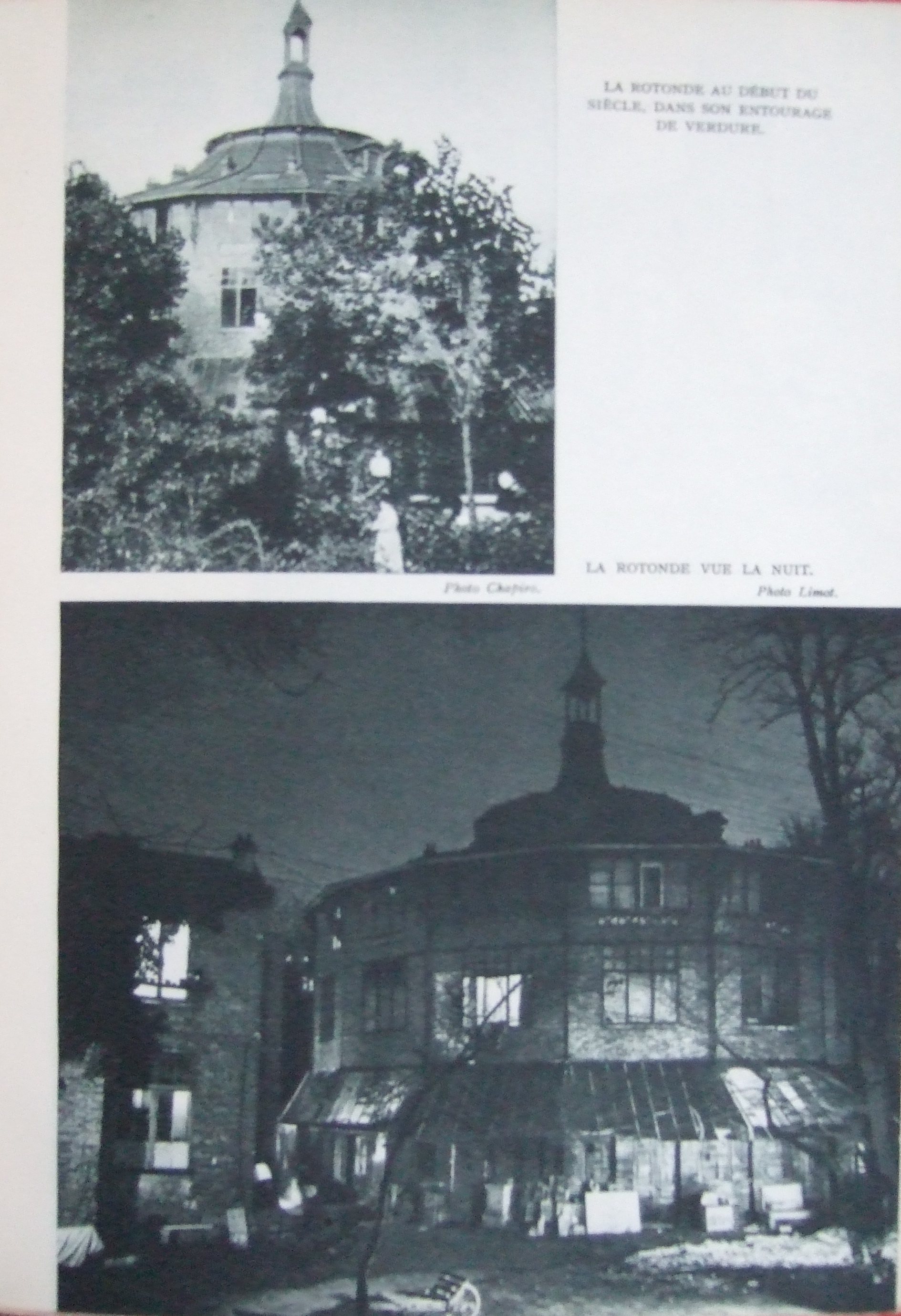 "Photographs of ""La Rotonde""."