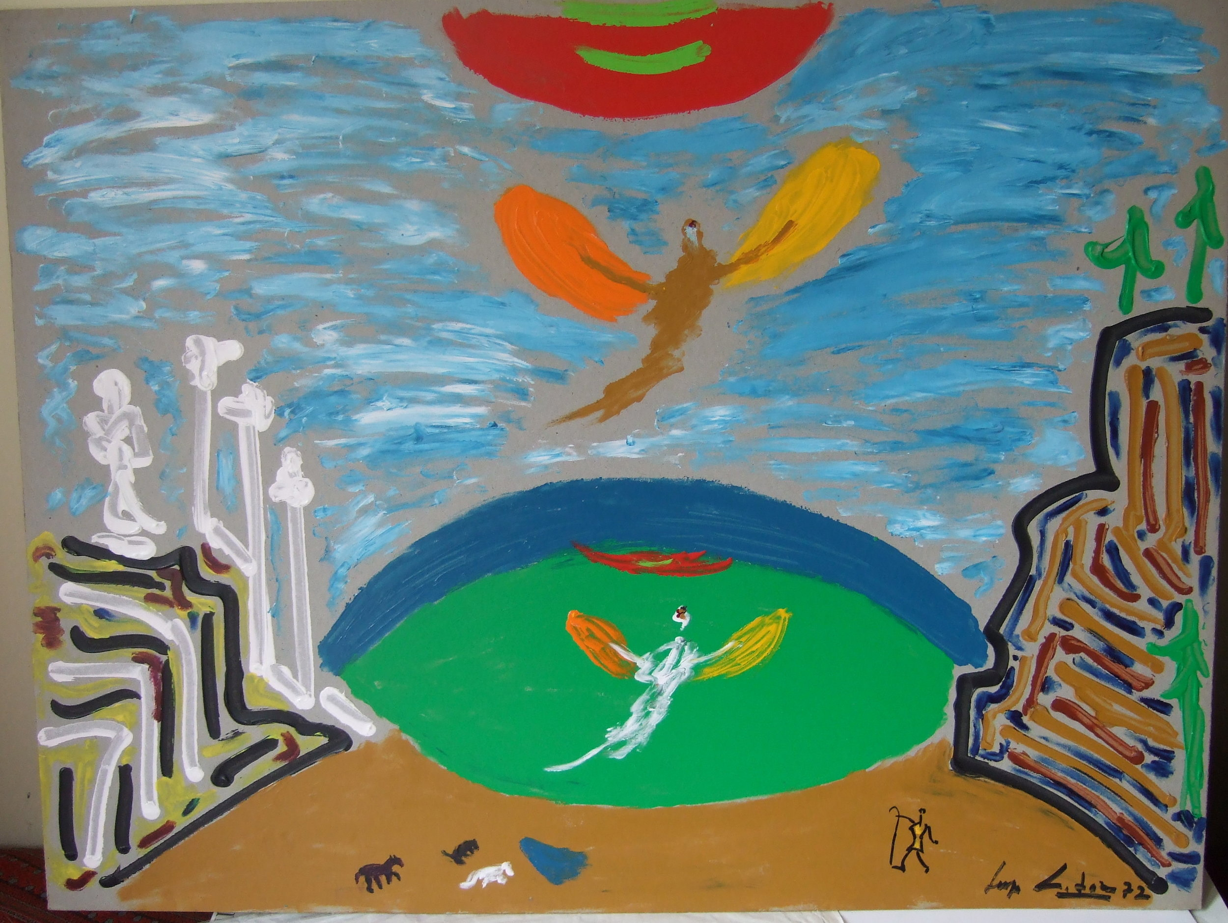 "Stage design ballet ""Icarus""."