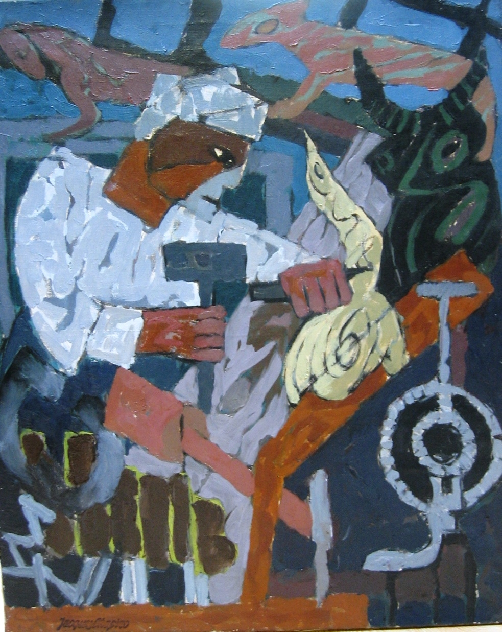 Sculptor. Oil on canvas. Size: 73 cm x 59.5 cm.