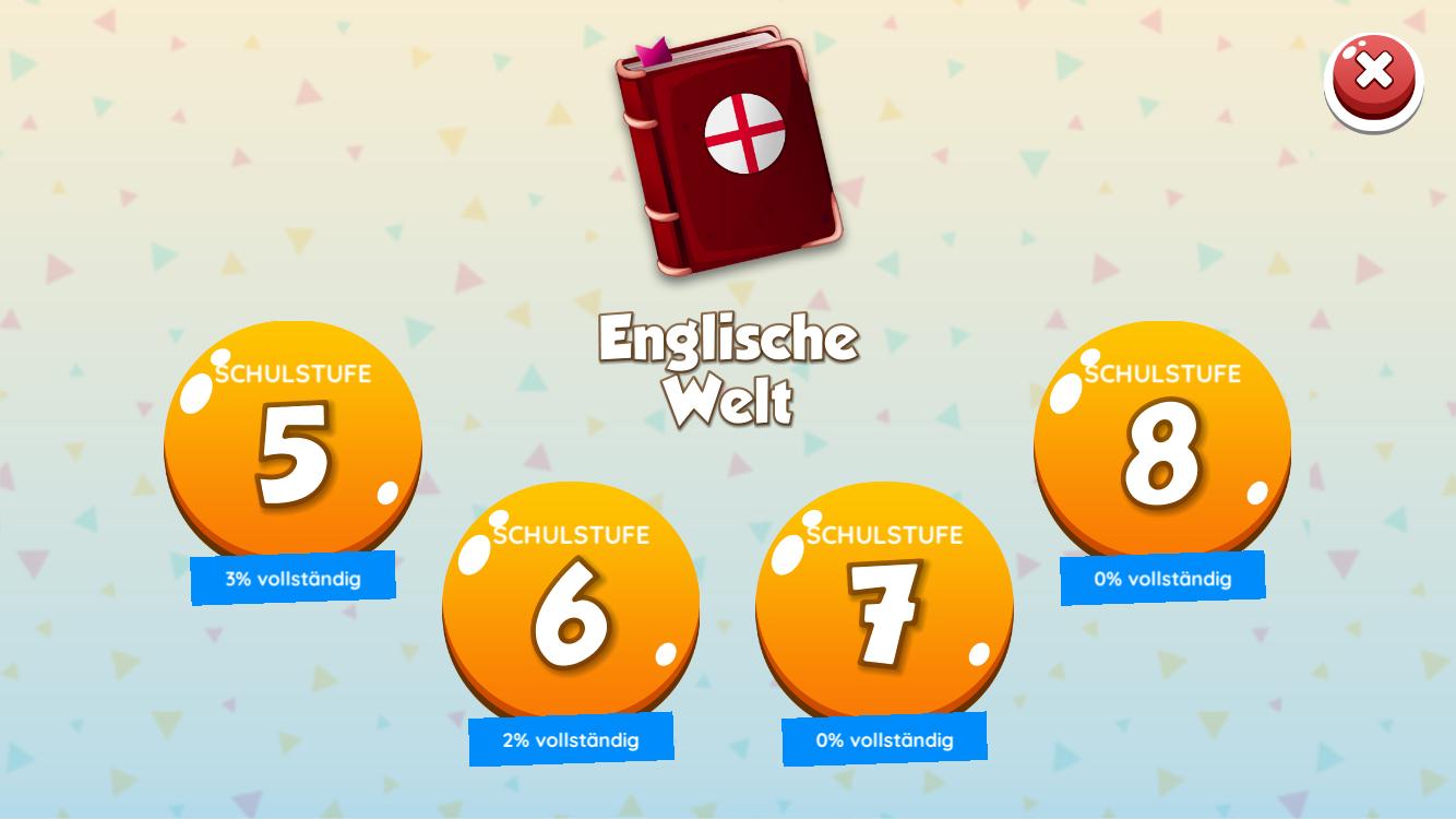 Beta-Version: Wähle deine aktuelle Schulstufe bzw. die Schulstufe deren Stoff du nachholen willst