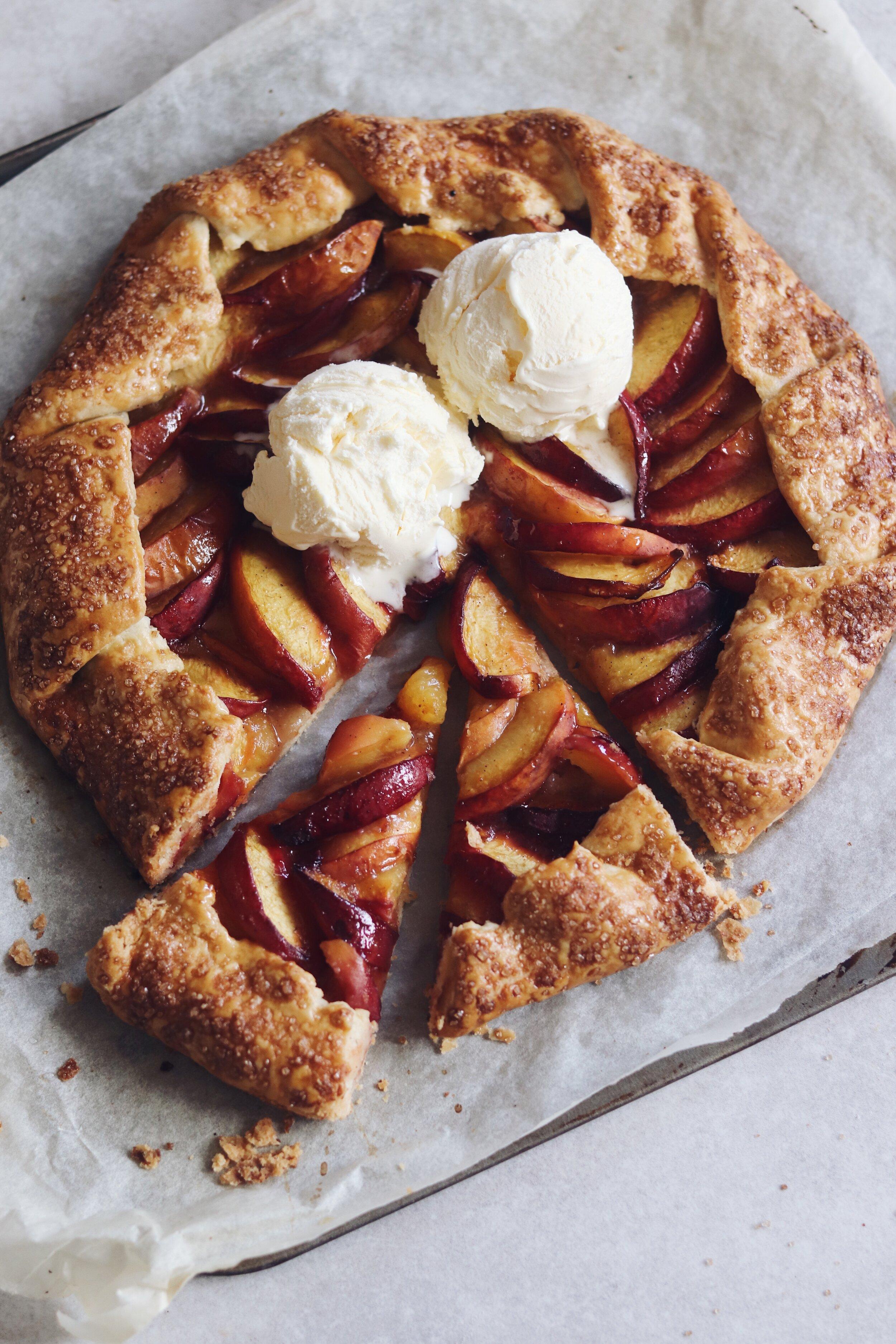 Summer Peach Galette Recipe