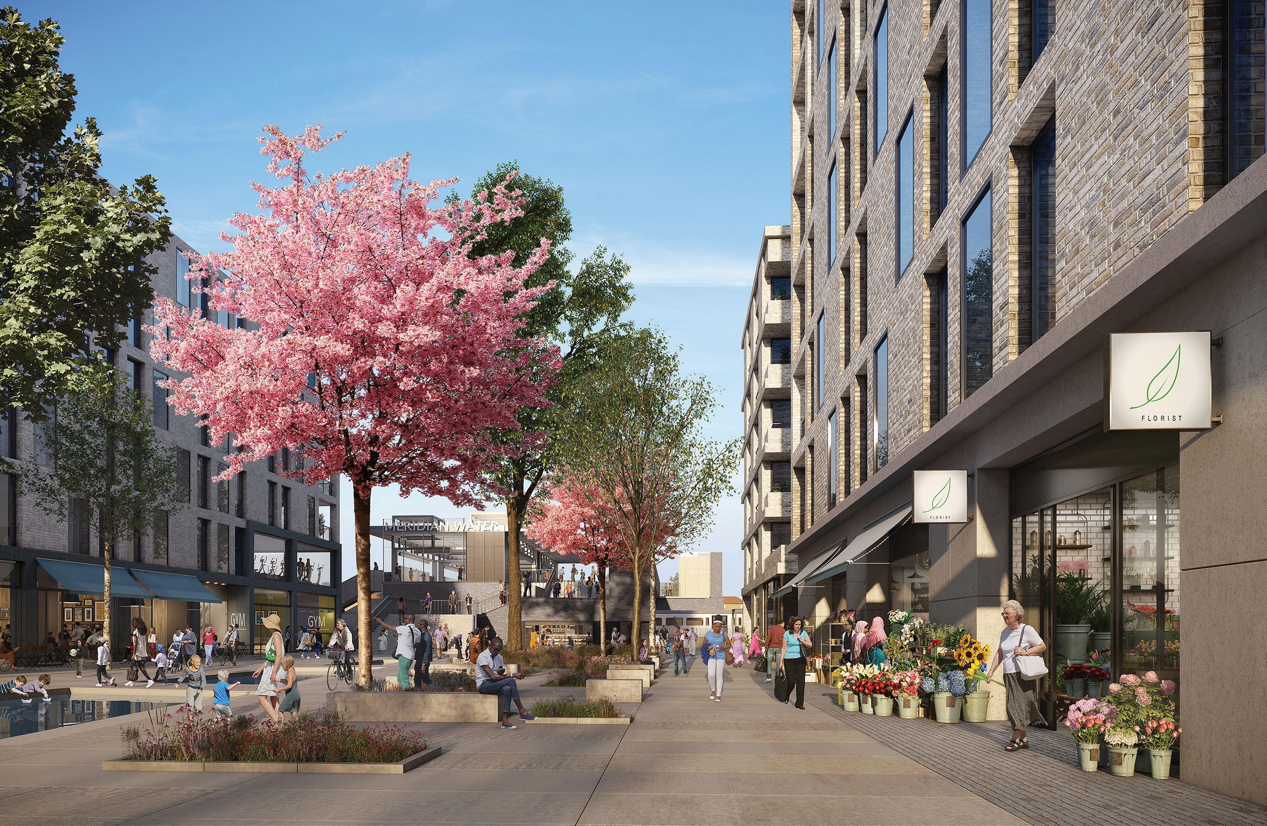 CGI of Phase 1 at Willoughby Lane