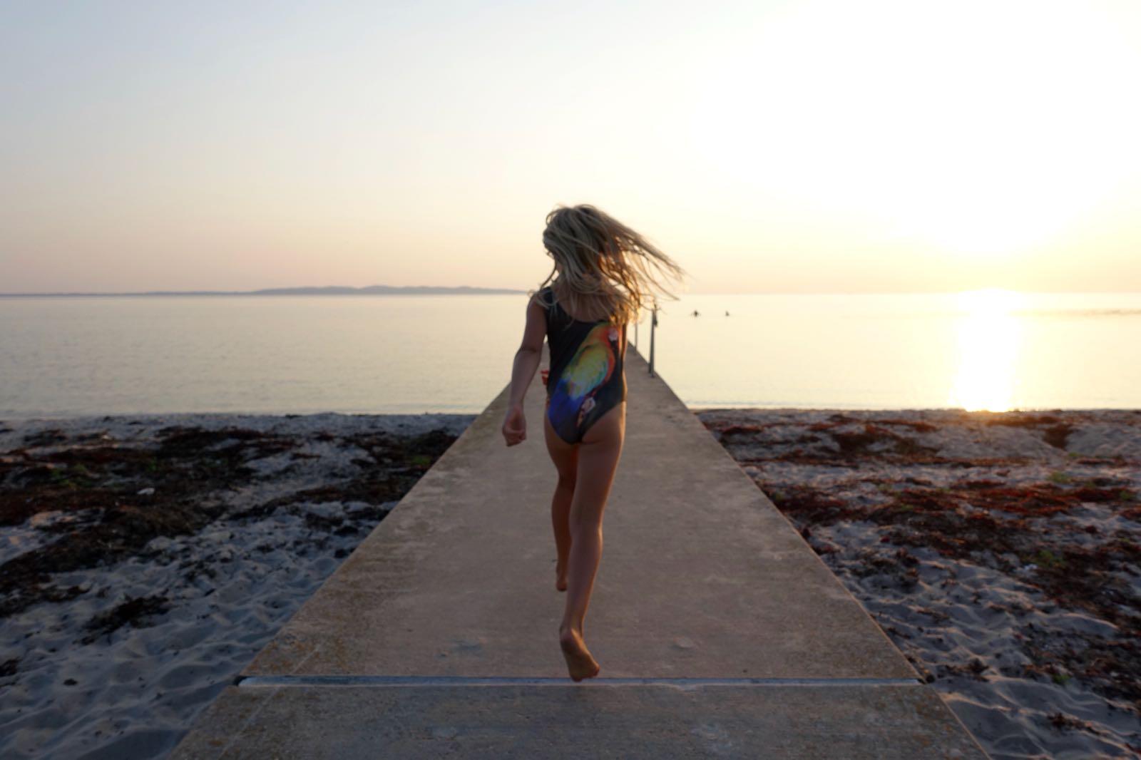 Badbryggan på Mäsinge strand