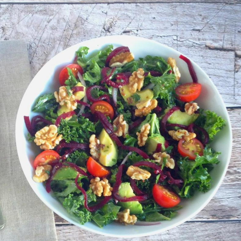kale and beet salad raw