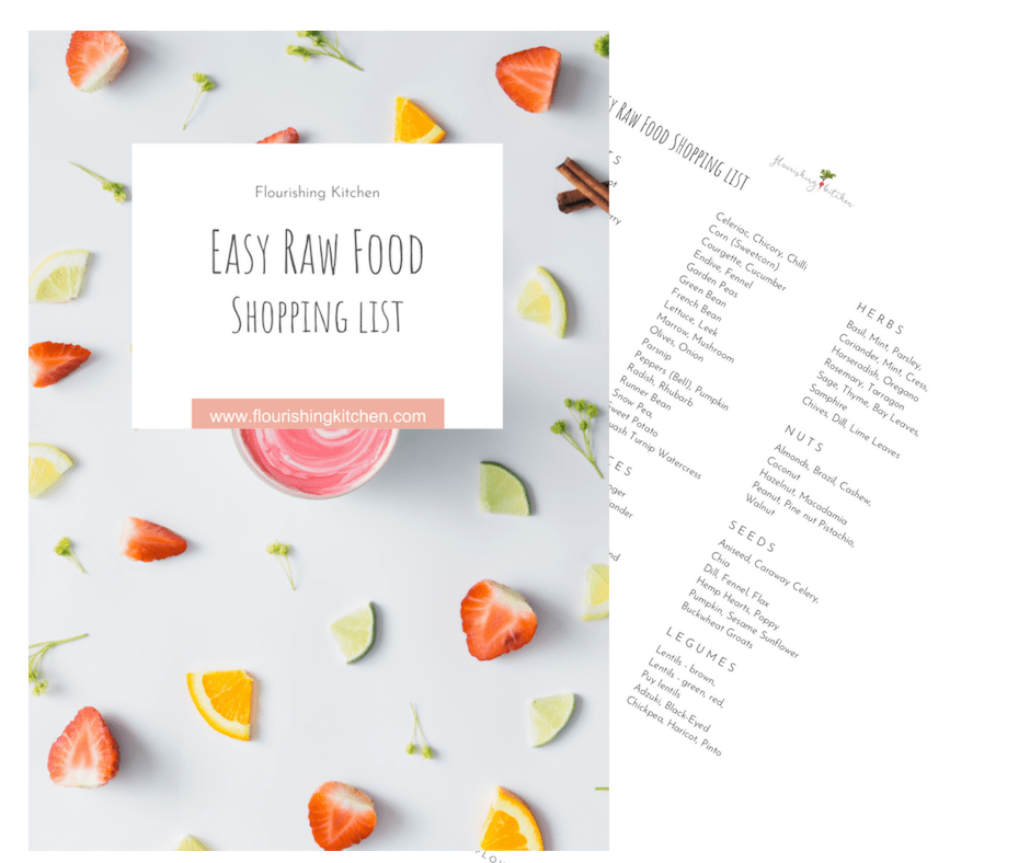 Raw Food Shopping List #RawFoodDiet101