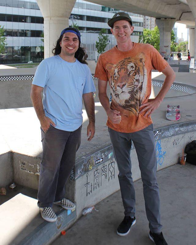 It was great to get to hang with Big Cat and Little Cat skating together again. @tmanskates @legasshole #skateboarding #lbsarmy
