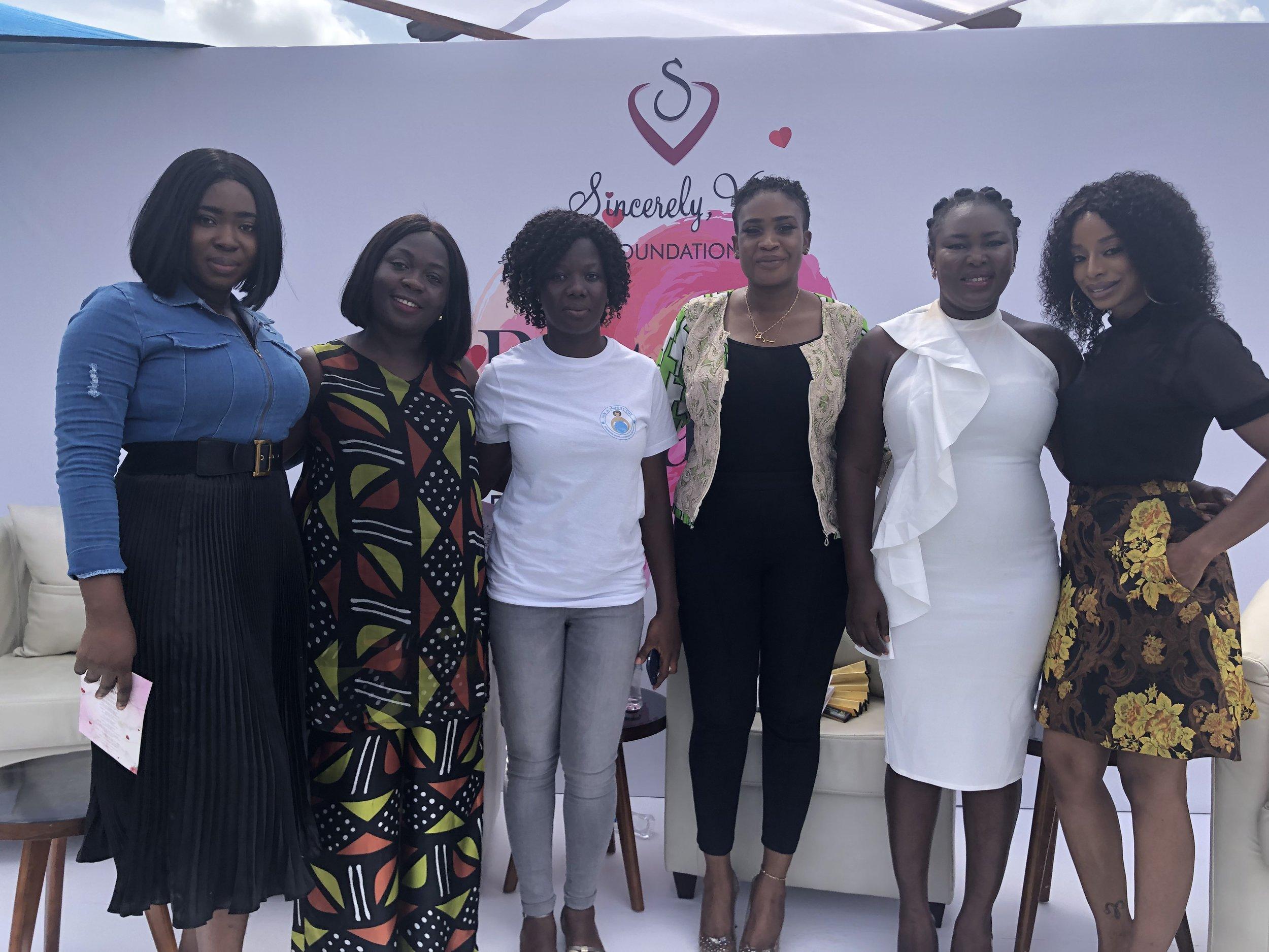 Nana Yaa Asabea Owusu, Akosua Poku, Cecilia Johnson, Victoria Naashika Quaye, Fati Shaibu-Ali, Vanessa Gyan