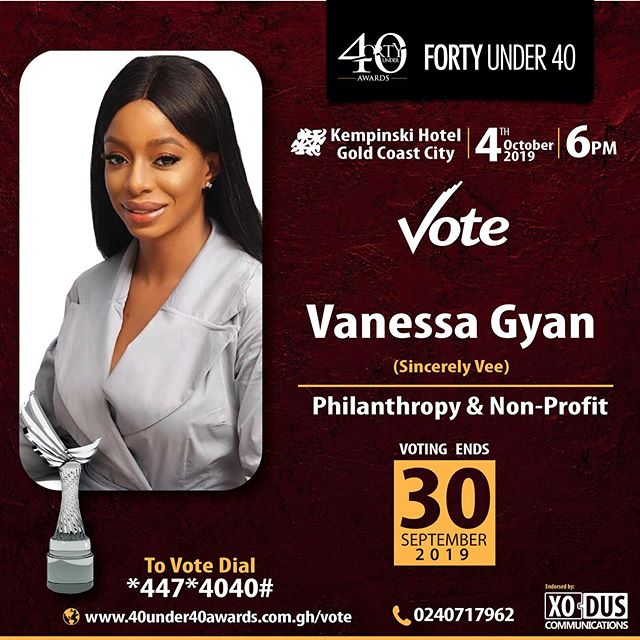 TGIMonday! @40u40awards Nominee. Voting begins today! ☺️