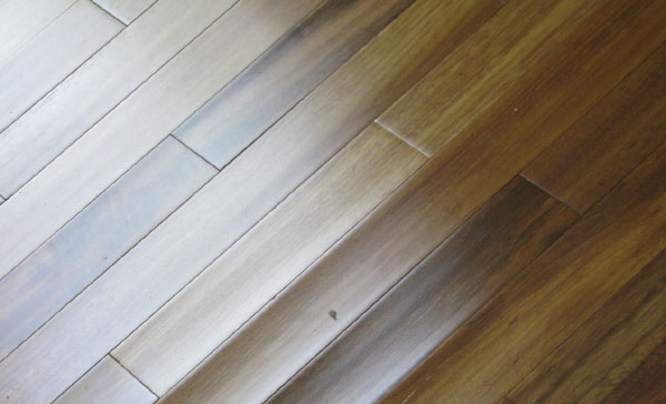 This is an example a solid hardwood floor that has a high moisture content underneath it that is experiencing cupping.