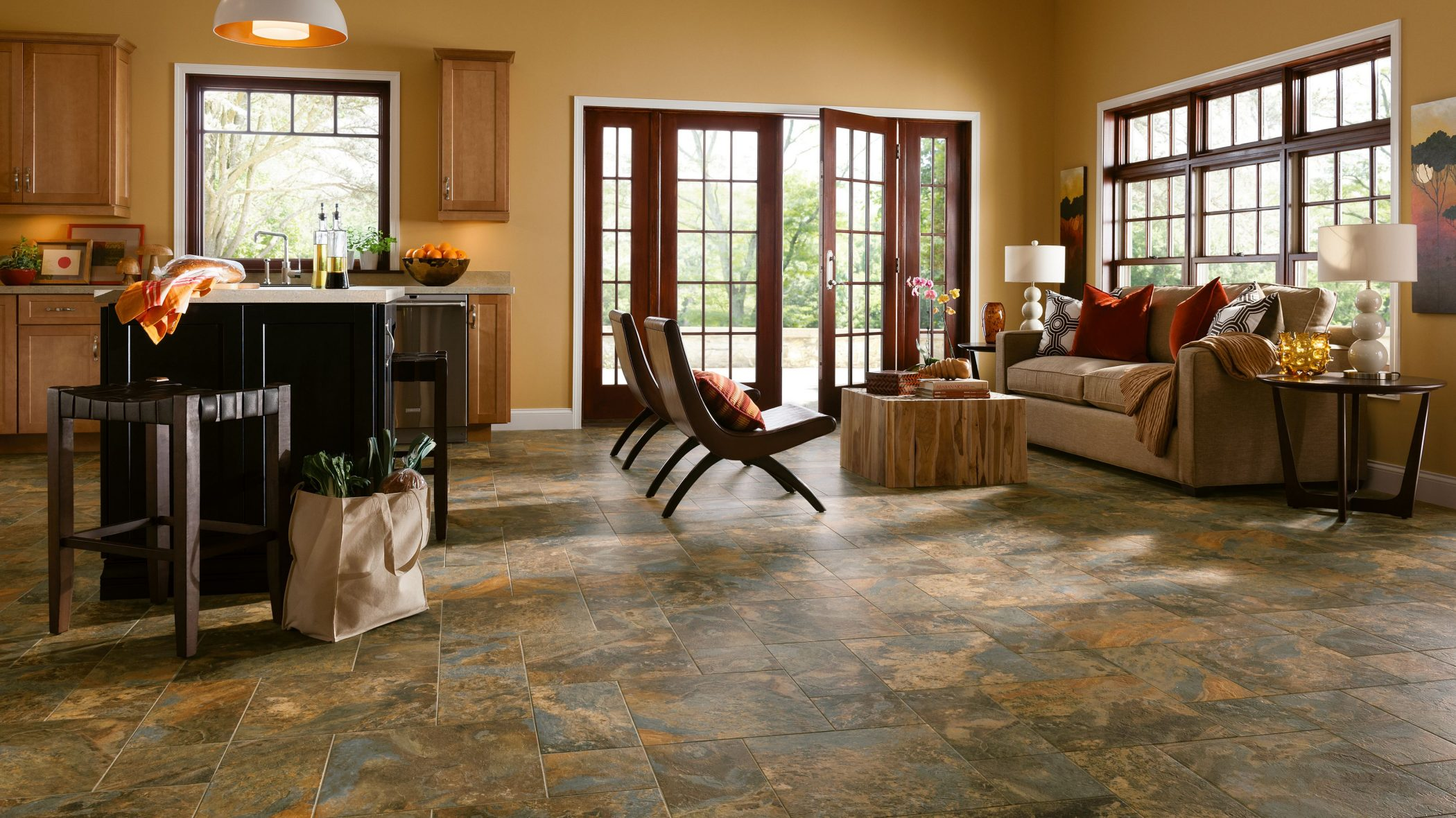 Design Tip #1 - For a truly high-end custom stone look, consider this classic 3-way opus pattern.