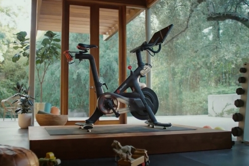 my home gym does not look like this, heauxs. my shit is shoved back on an old sun porch. but I like that they've got some kid's toys around so you really understand THE CONVENIENCE.