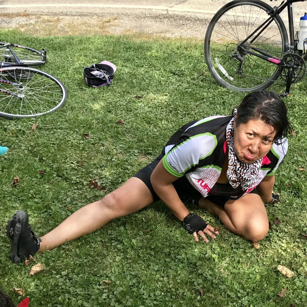 this is what riding 100 miles in one day