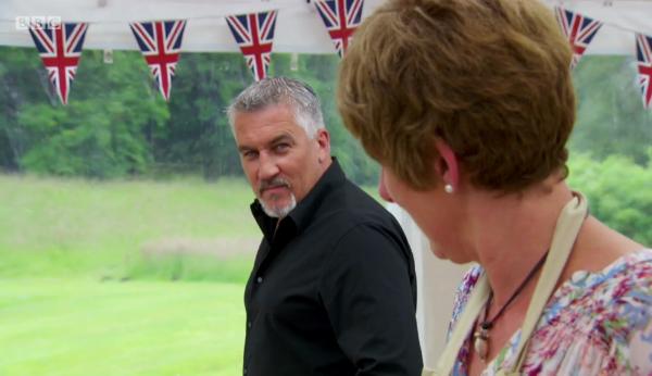 Paul being helpfully intimidating by staring down poor Jane.