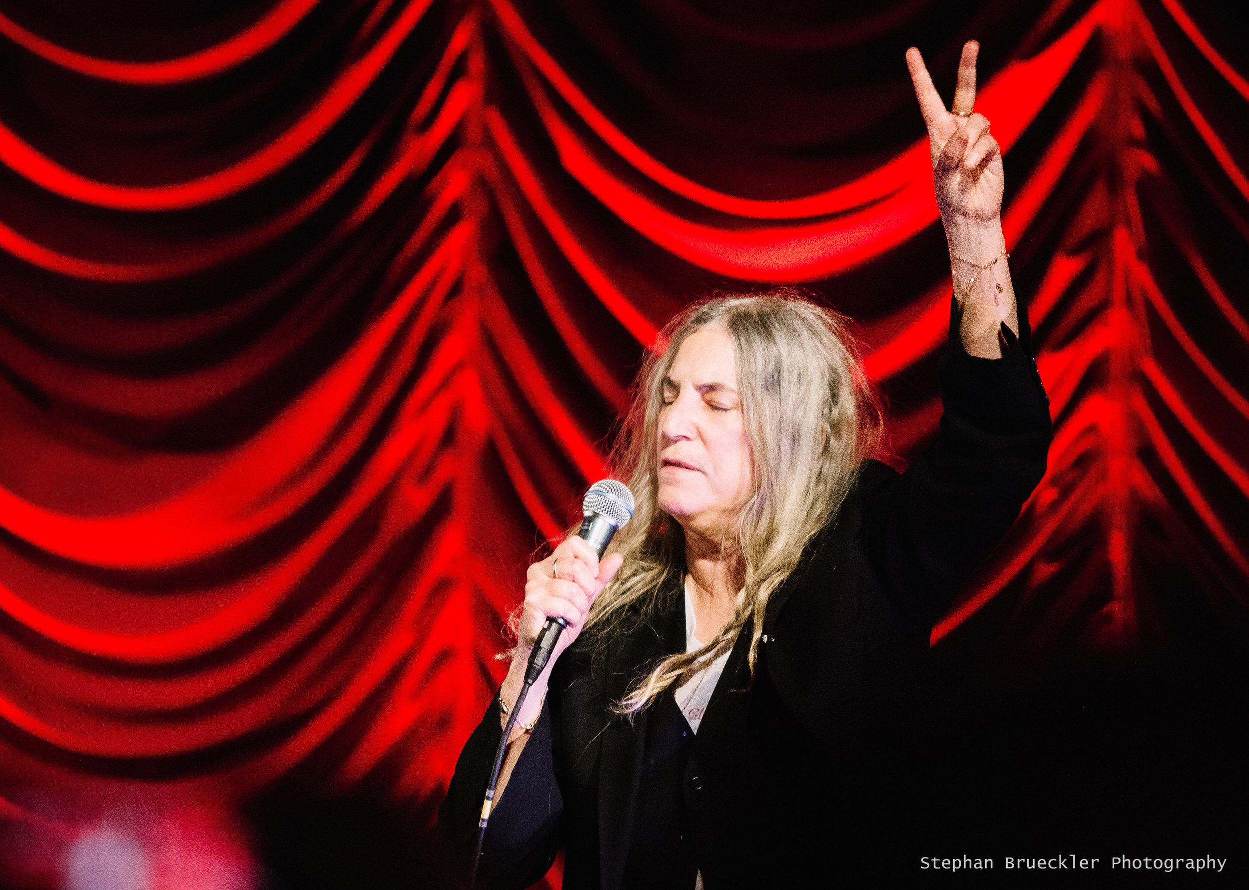 PATTI SMITH live at Filmfestival Viennale, Vienna, all saints day 2016