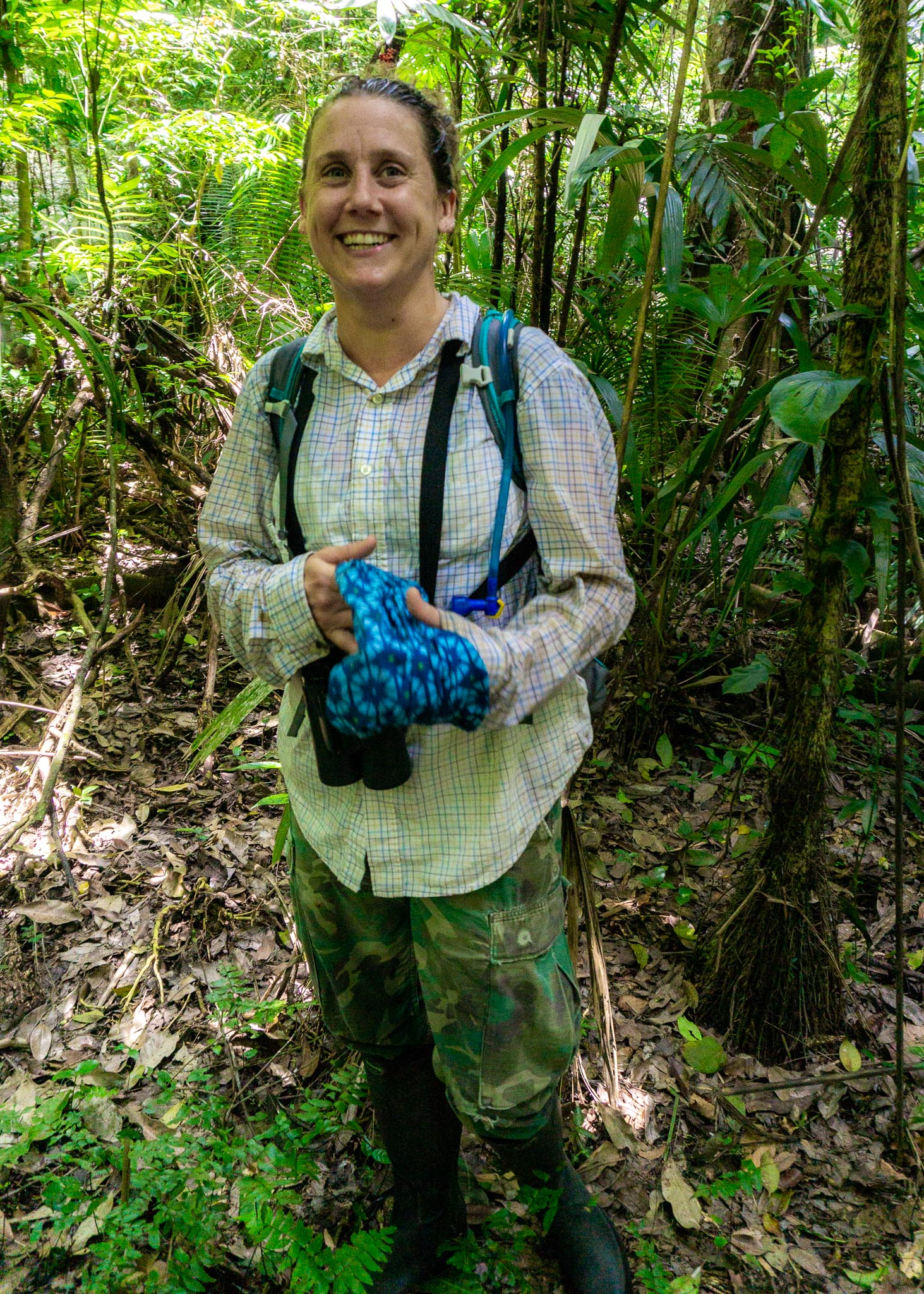 Dr. Kayla Hartwell - who used to study spider monkeys here but is now the Research Director at Runaway Creek.