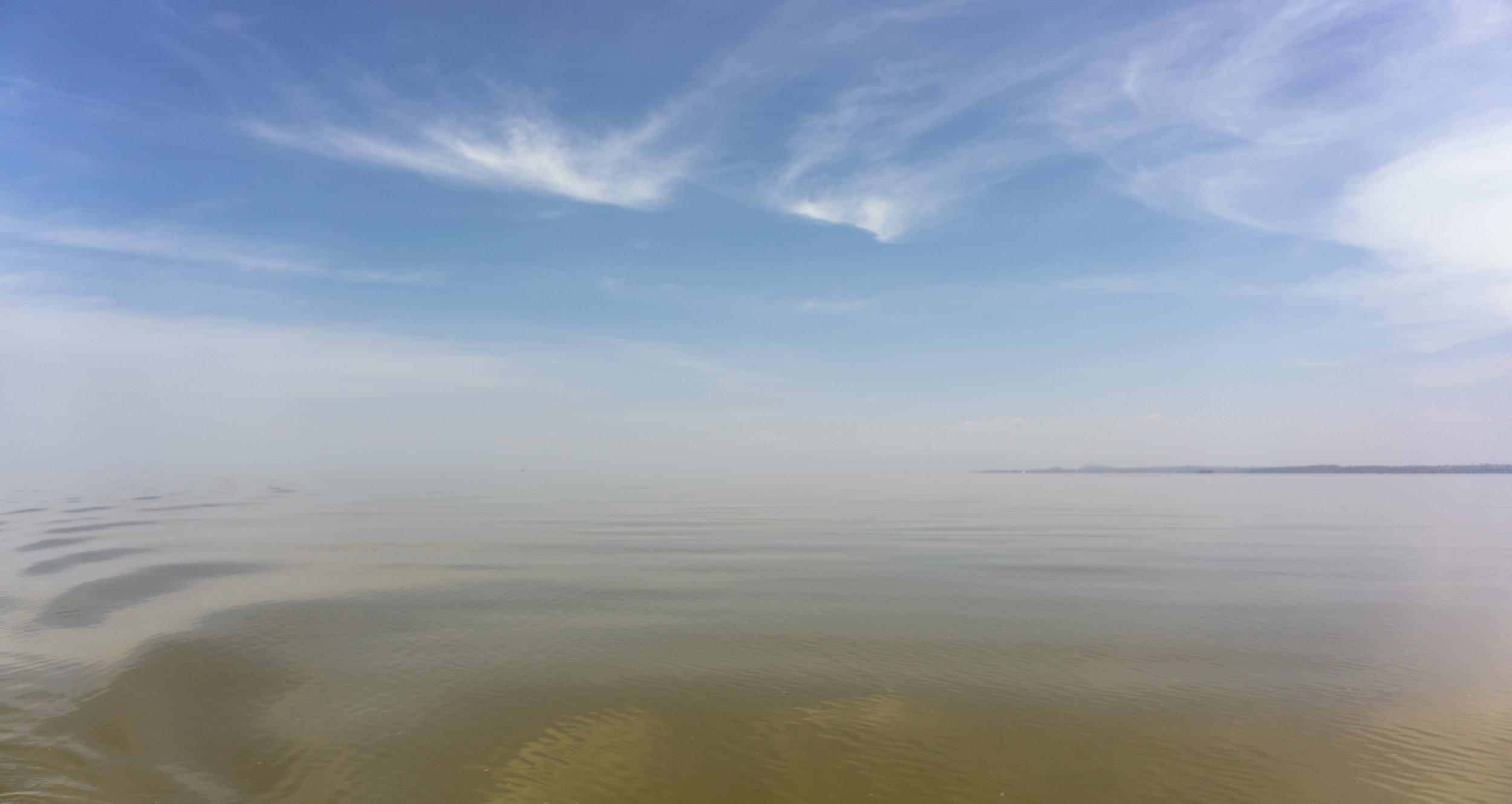 Lake Tana on a hazy afternoon.