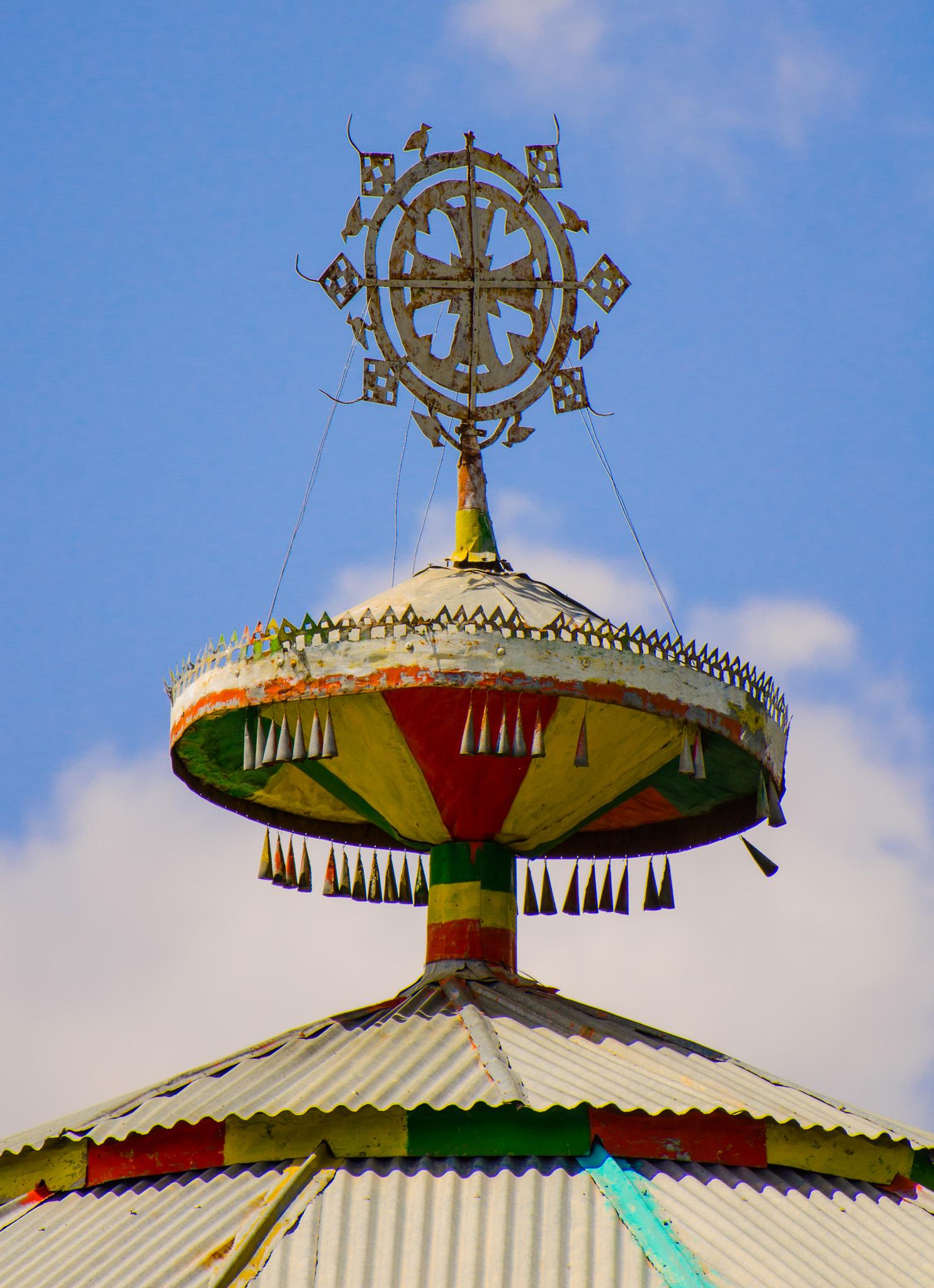 Ornate crosses adorn each church