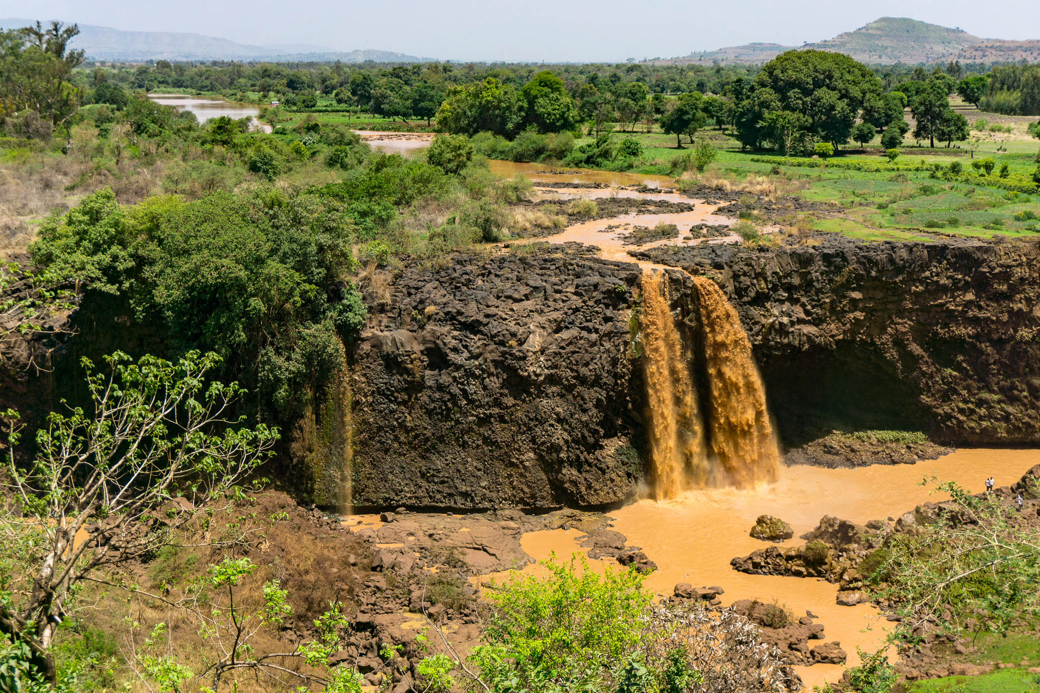 """The spectacular """"Blue"""" Nile Falls."""