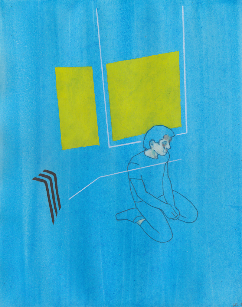 "Untitled (Alex), 2017 Colored pencil and graphite on paper 14.25"" x 11.25""  [SOLD]"