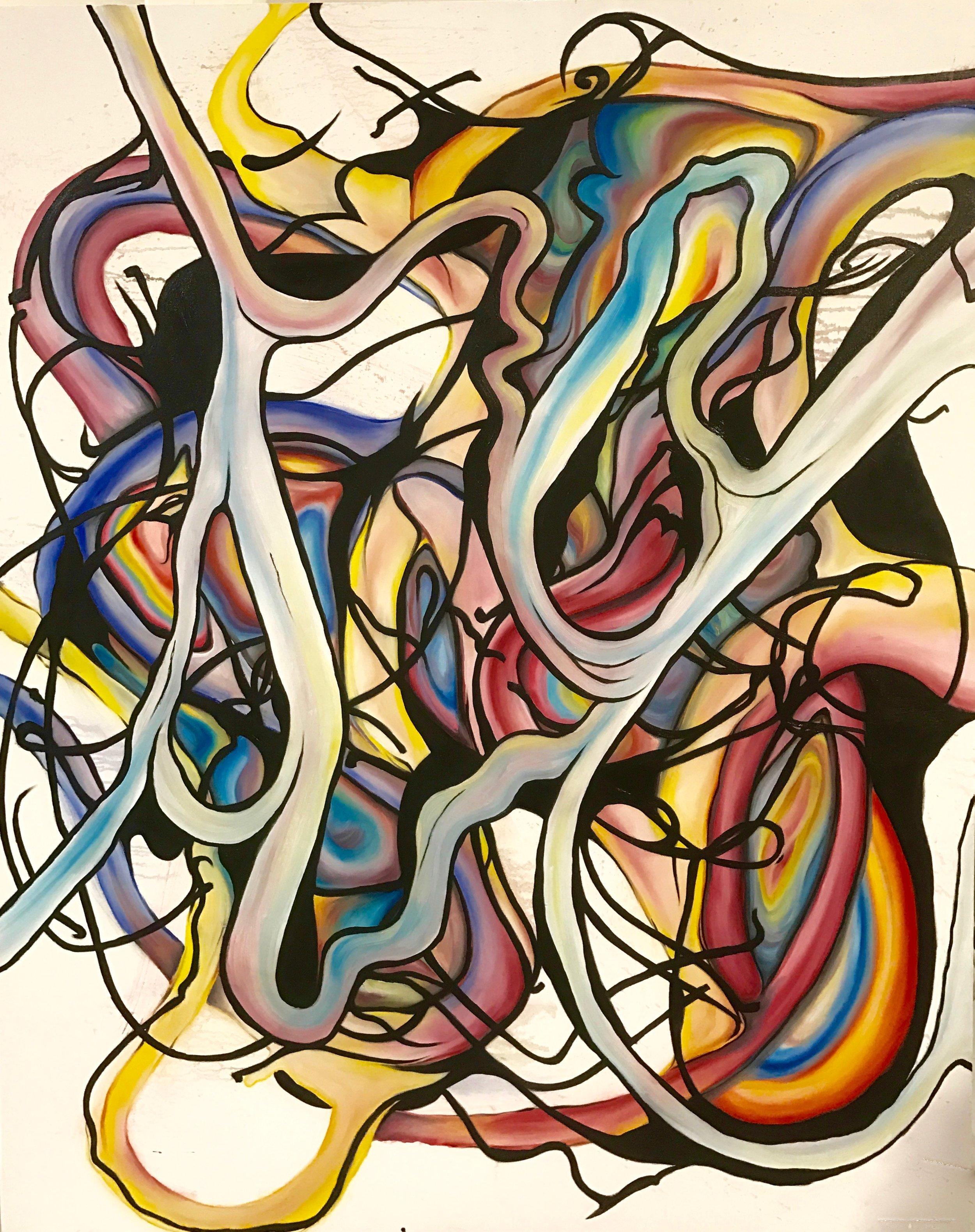 Joropo , 2017  Oil on canvas, 48 x 60 in.