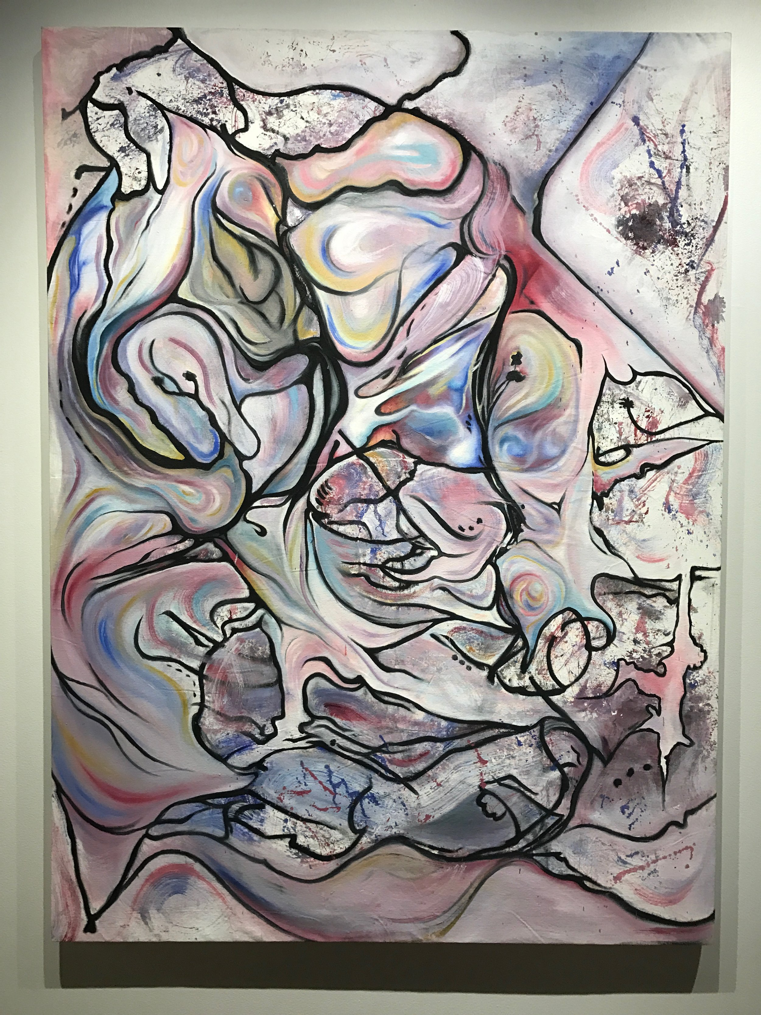 Order on Chaos, 2016  Oil on canvas,46 x 60 in.
