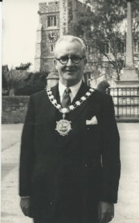 Frank John Bly, James' Grandfather. Mayor of Tring c 1955