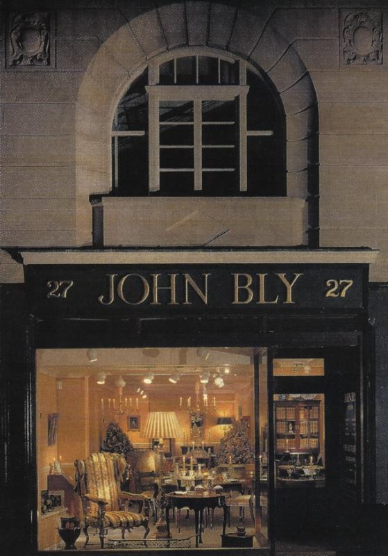 John Bly's shop in Bury Street St James', London. 1998