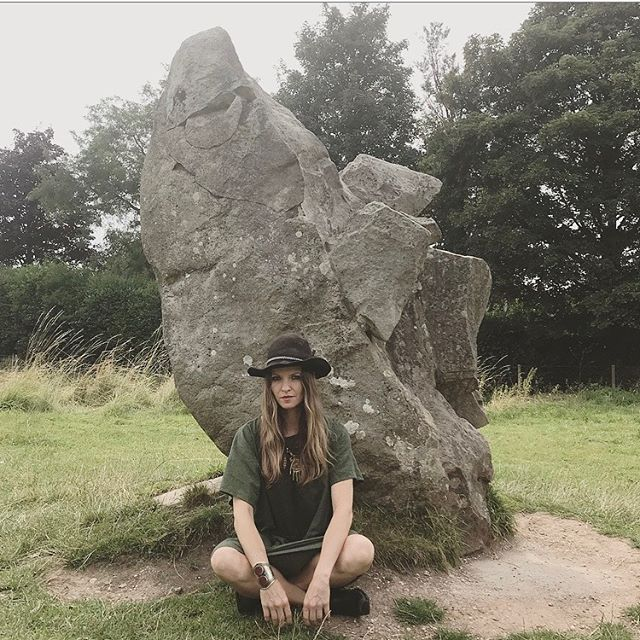 Hanging out with the sacred Avebury Stones after my book signing today at @hengeshop.avebury