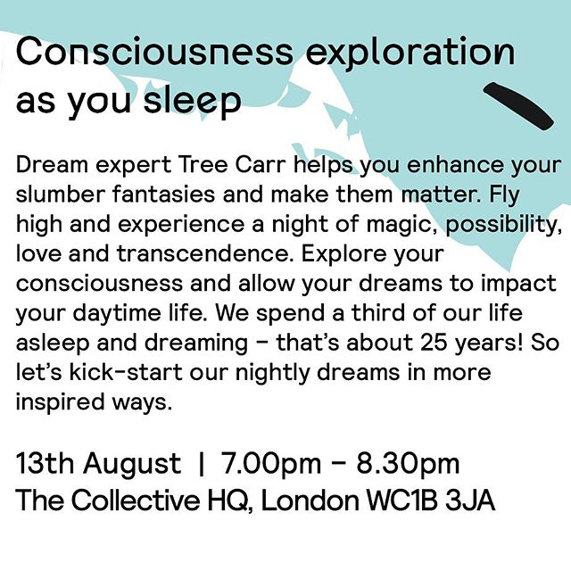 London dreamers! I'm doing a talk next week at @thecollective_living . Click link in my bio for tickets! . . 🧚♂️🧚♂️🧚♂️🧚♂️🧚♂️🧚♂️🧚♂️🧚♂️🧚♂️🧚♂️🧚♂️ . . #luciddreamtree #thecollective #thecollectivelondon #luciddreaming #consciousdreaming #luciddreamingteacher #dreamingguide #dreamsbook #dreams #dreaming