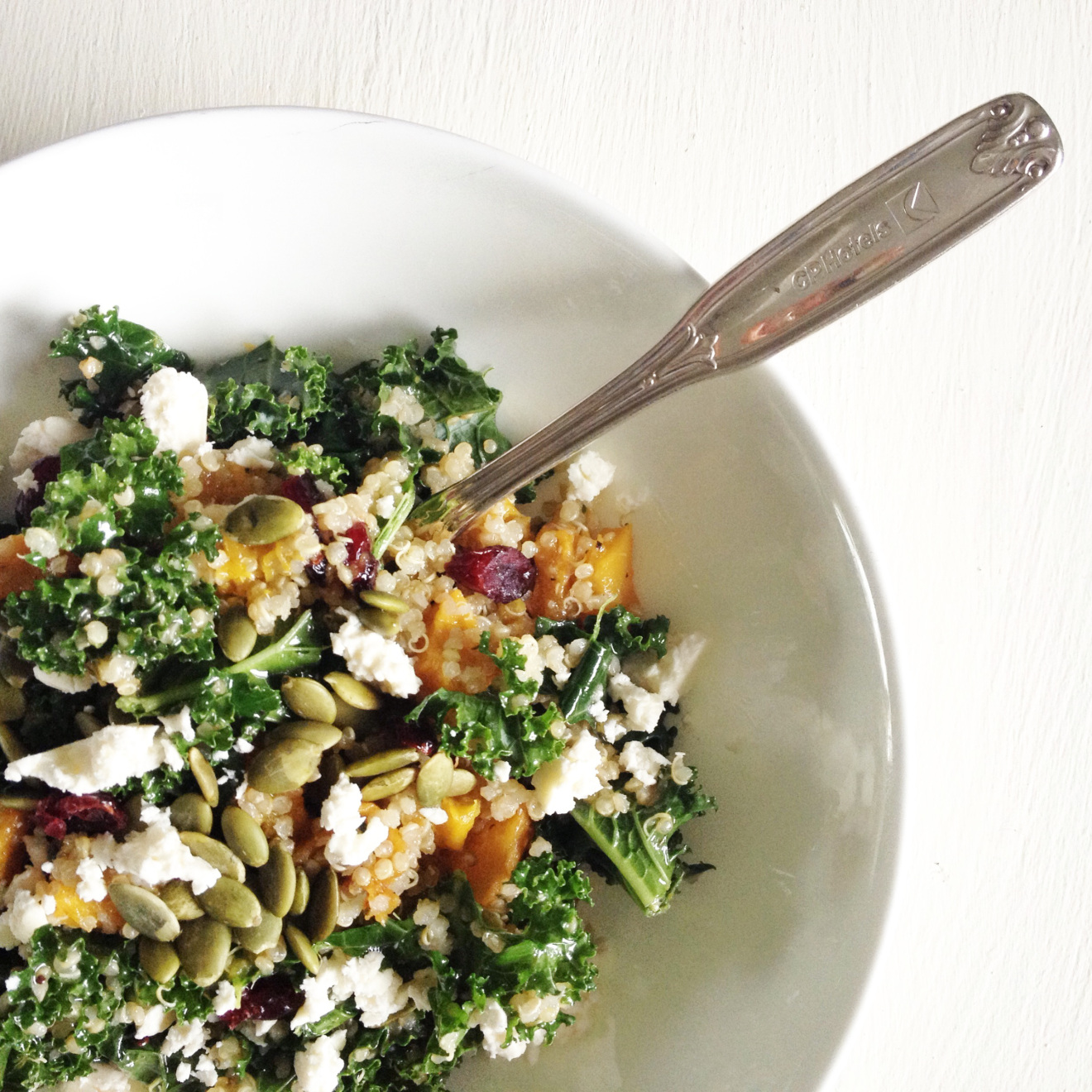 ROASTED PUMPKIN, KALE, AND QUINOA SALAD BY FRAICHE NUTRITION